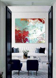 770gkp01 Kemeja White Abstrac Navy wall large abstract painting teal blue navy grey gray white canvas big contemporary