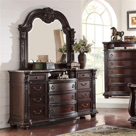bedroom dresser mirror crown stanley bedroom traditional dresser and mirror set royal furniture dresser