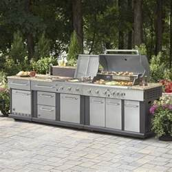 Modular Outdoor Kitchen Cabinets by Master Forge Modular Outdoor Kitchen Set Lowe S Canada