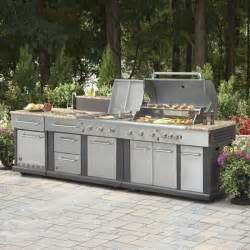 Modular Outdoor Kitchen Cabinets Master Forge Modular Outdoor Kitchen Set Lowe S Canada