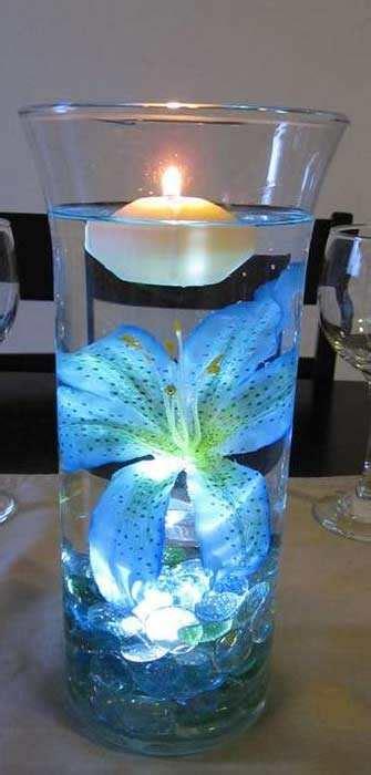 drijfkaarsen bloemen kopen creatief met glazen vazen vullen en decoreren
