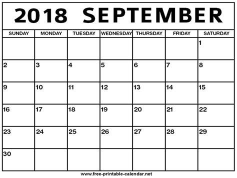 printable calendar september 2018 september 2018 calendar print calendar from free