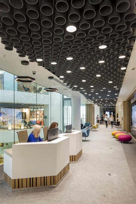 Plafond Desing by Faux Plafond Moderne Design Quatre Espaces De Travail Et