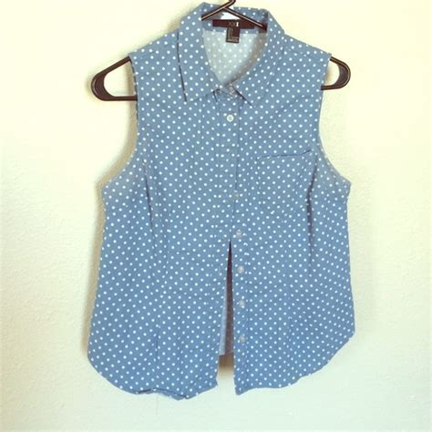 Proust Blue Handheld Bag From Collard by 43 Forever 21 Tops Baby Blue Collard Poka Dot