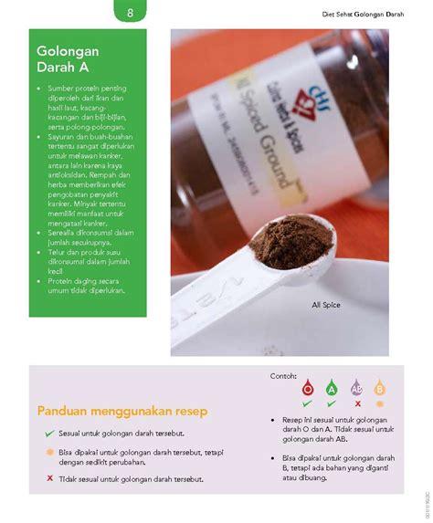 Diet Sehat Golongan Darah Untuk Mencegah Dan Mengobati Penyakit jual buku 105 resep pilihan diet sehat golongan darah untuk mencegah dan mengobati kanker oleh