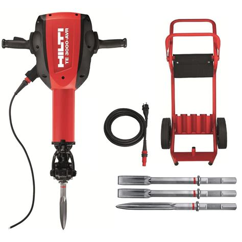Bor Hilti Te 2 hilti te 3000 avr 120 volt polygon breaker kit 3492616 the home depot
