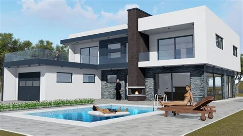 photos modern house models drawing gallery pictures