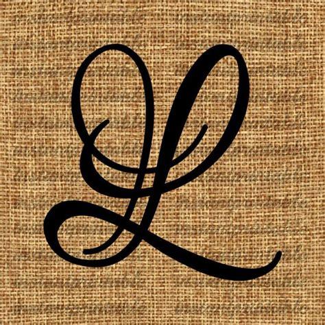 Initial L monogram initial letter l letter clip letter decal etsy