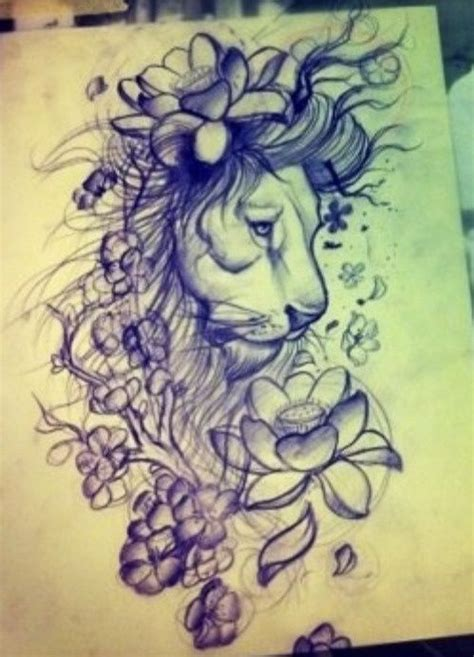 lion tattoo ideas cover up design idea for tattoos for grey flowers