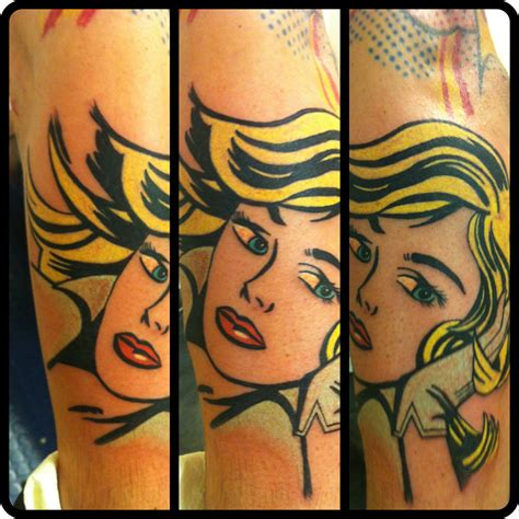 pop art tattoo on impulse fuckyeahtattoos pop design done