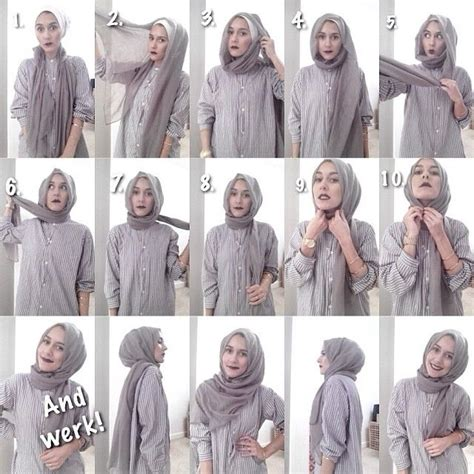 tutorial pashmina simple dina tokio shows us how to wrap a hijab hijab tutorial
