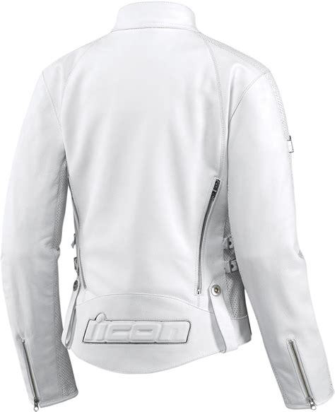 white motorbike jacket icon hella replica womens leather motorcycle jacket white