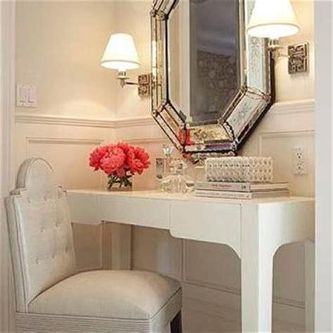 pink velvet tufted vanity chair transitional closet vella interiors
