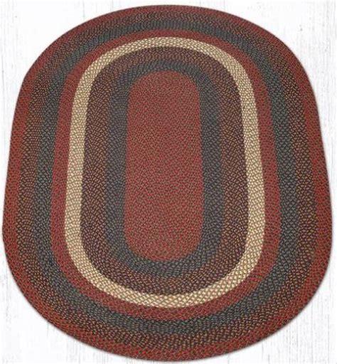 oval rugs 5x8 c 040 burgundy gray oval braided rug 5x8