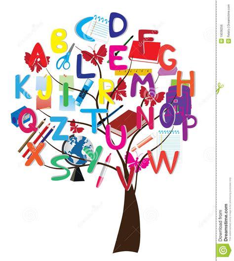 The Alphabet Trees alphabet tree stock vector illustration of globe letter