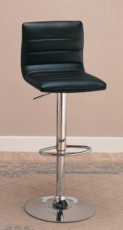 Bar Stool Black Chrome by Adjustable Bar Stool Black Chrome Nader S Furniture