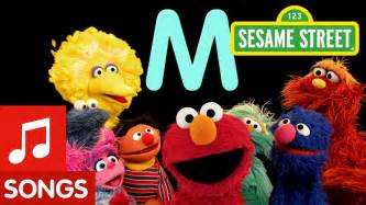 sesame letter m letter of the day