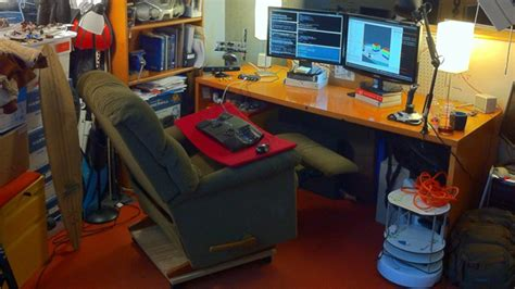 recliner gaming setup turn a la z boy recliner into the ultimate desk chair