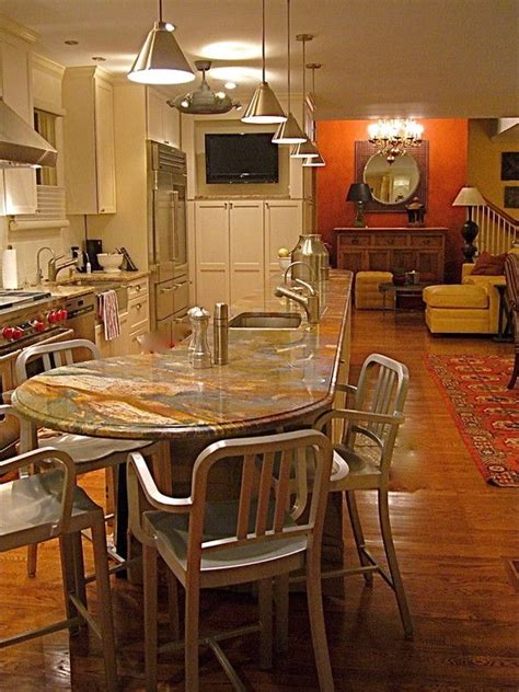 round kitchen island with seating best 25 round kitchen island ideas on pinterest curved kitchen island curve tops and kitchen