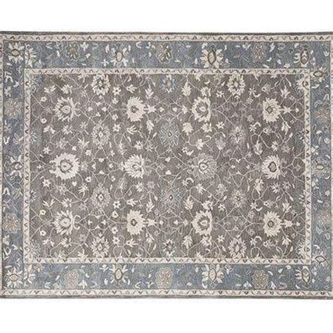 Gray And Blue Rugs by Teal And Taupe Antique Motif Rug