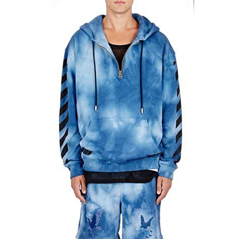 Jacket Hoodies Gojek 06 white c o virgil abloh s tie dyed hoodie in blue for lyst