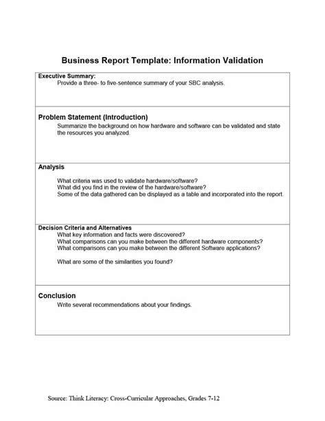 30 Business Report Templates Format Exles Template Lab Report Format Template