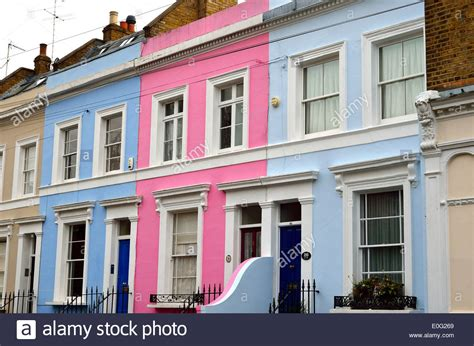 buy house notting hill colourful terraced houses in notting hill london stock