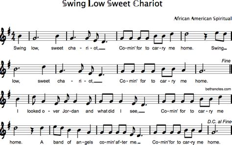 lyrics of swing low sweet chariot swing low sweet chariot beth s notes