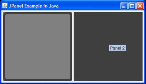 java swing jpanel exle jpanel in swing exle for beginners