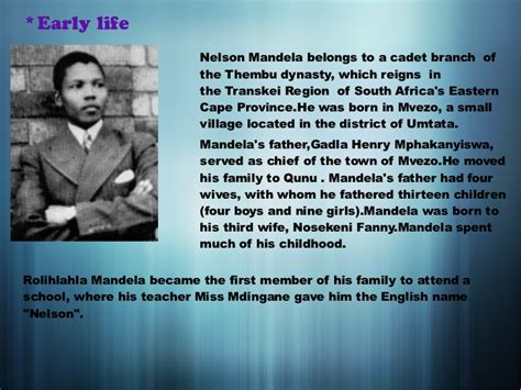 biography of nelson mandela early life nelson mandela