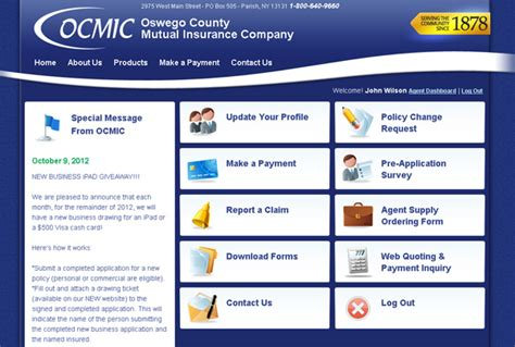 oswego county insurance launches new website with