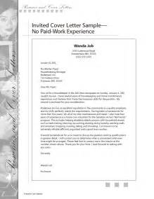 Motivation Letter For Work Experience Writing A Cover Letter For Work Experience