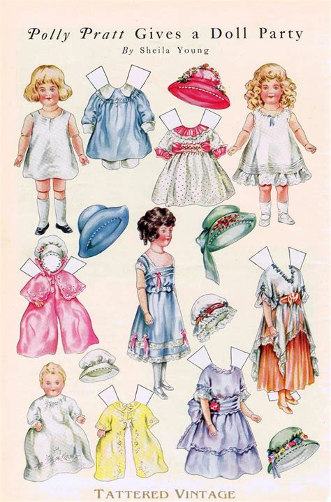 Paper Doll Craft - paper dolls dolls crafts printables printables