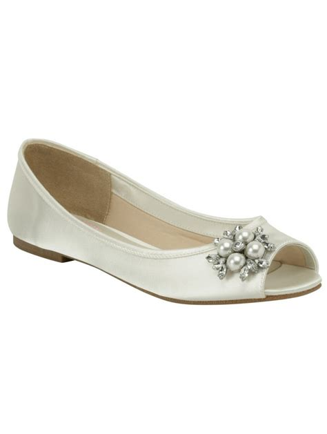 flower ivory shoes pink by paradox flower ivory satin flat sole peep toe