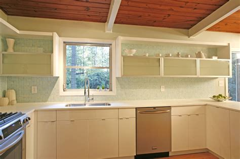 mid century modern kitchen countertops and s mid century modern makeover before