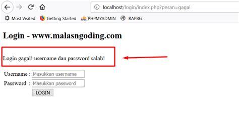 membuat login administrator dengan php membuat login dengan php dan mysqli part 2 malas ngoding