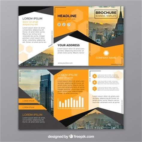 gratis desain leaflet tri fold brochure vector free download