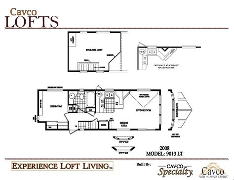 breckenridge park model floor plans cavco loft units park model homes canada