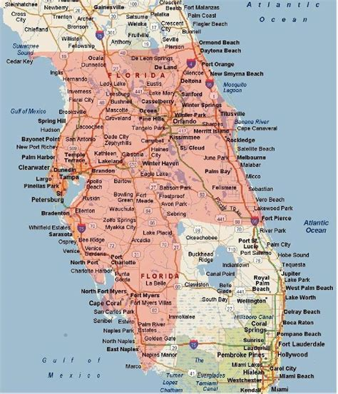 map of florida west coast florida west coast images