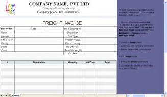 Trucking Invoice Template Free by Freight Invoice Template Invoice Software