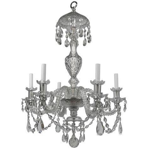 Georgian Chandelier Georgian Style Cut Six Light Chandelier By E F Caldwell For Sale At 1stdibs