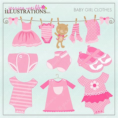card stuff baby clothes digital clipart by jwillustrations