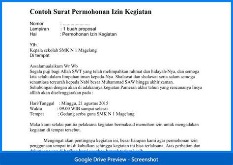 contoh surat permohonan izin kegiatan wiki edukasi