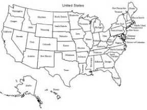 us map with blank state names for geography learn united states shapes with