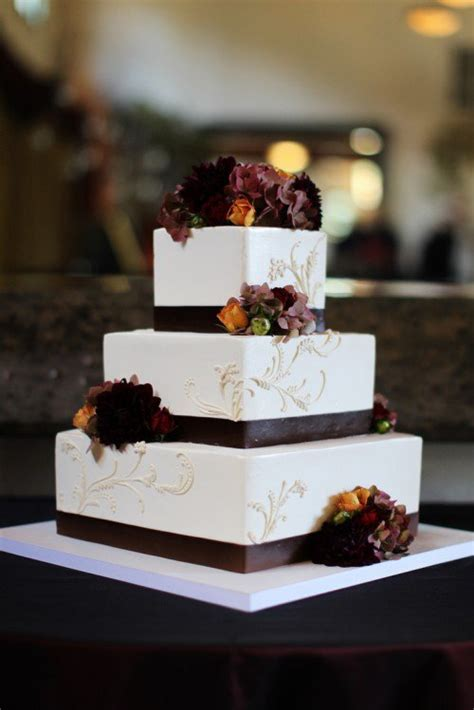 hochzeitstorte quadratisch modern 15 fall wedding cake ideas you may pretty designs