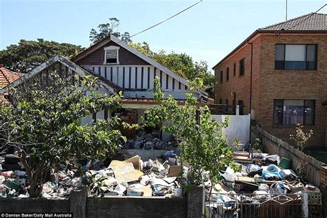 hoarder house bondi s hoarder house to go to auction for 2million in sydney daily mail online