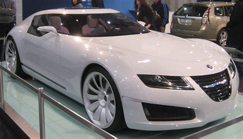 saab aero x concept car on display at auto show rides