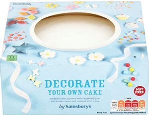 Sainsbury's Decorate Your Own Cake   8 Servings   Compare