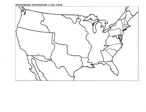 us westward expansion blank map blank map of us manifest destiny