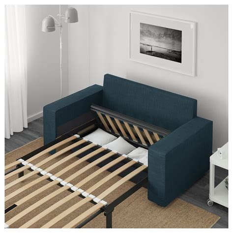 Couches Bed by Vilasund Two Seat Sofa Bed Hillared Blue Ikea
